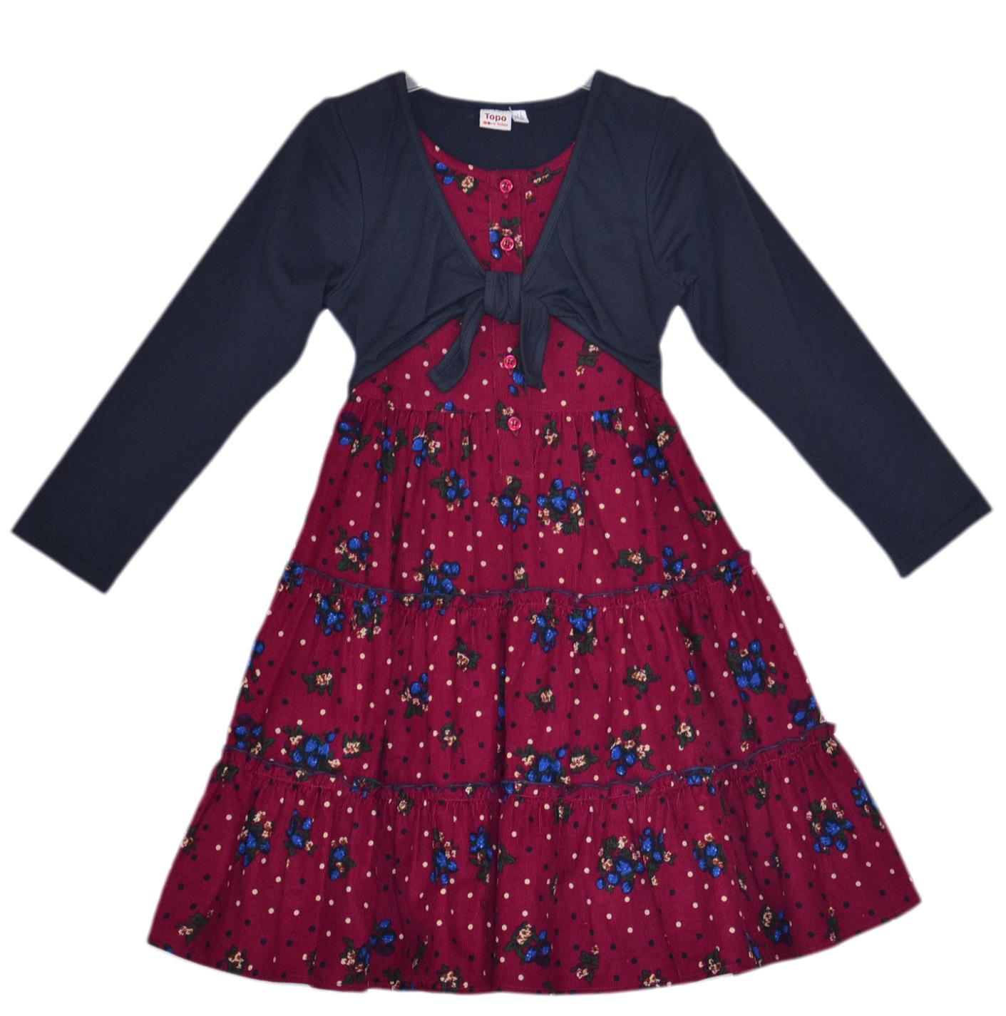 8d7c84478c96 Topo Dievčenské šaty s bolerkom - červené