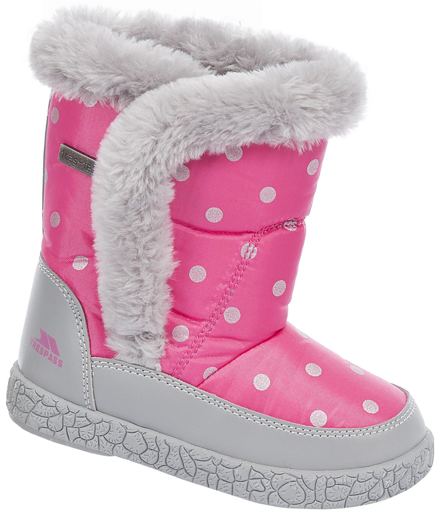 Trespass Dievčenské bodkované snehule Tigana - ružové 3919c26f76