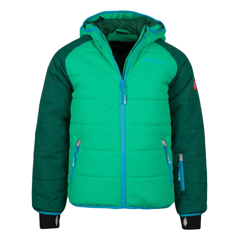 779379a23 Trollkids Chlapčenská zimná bunda Hafjel - zelená, 128 cm ...