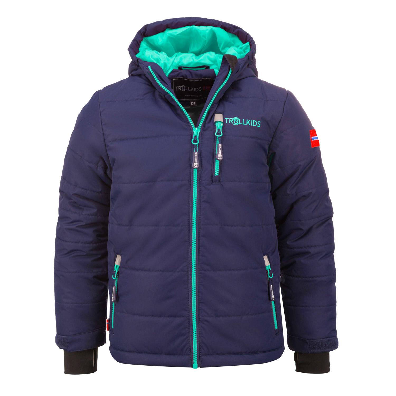 Trollkids Chlapčenská zimná bunda Hemsedal - tmavo modrá cf2242d4ab4