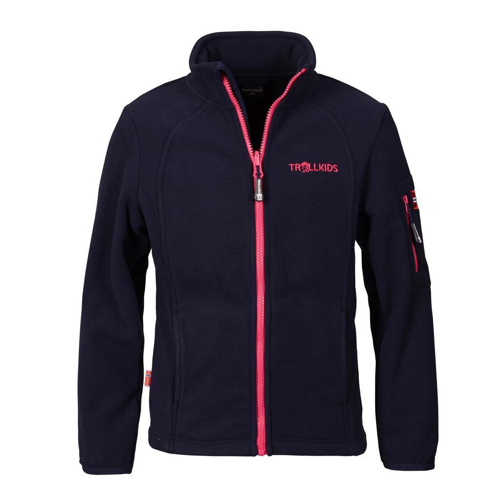 2701f596242c Trollkids Detská fleecová bunda Arendal - modro-ružová