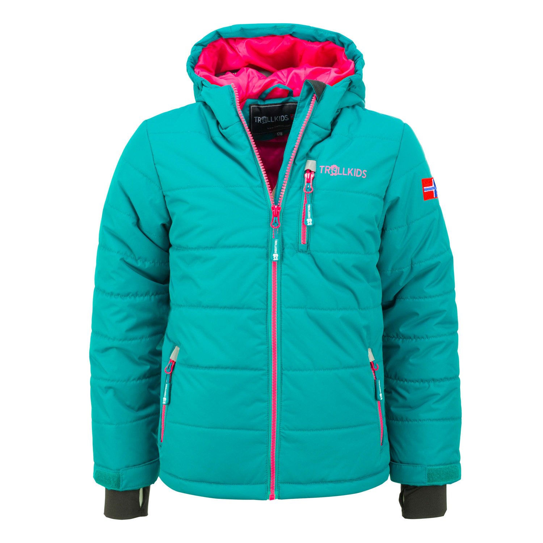 Trollkids Dievčenská zimná bunda Hemsedal - zelená ed07c0b11e7