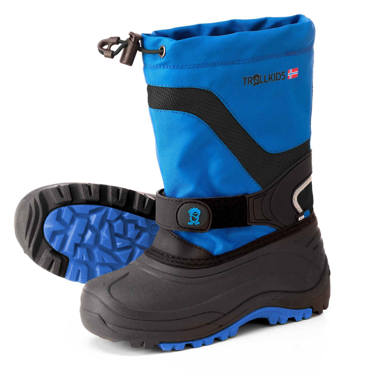 Trollkids Dievčenské nepremokavé snehule Narvik - modré 40041d8500